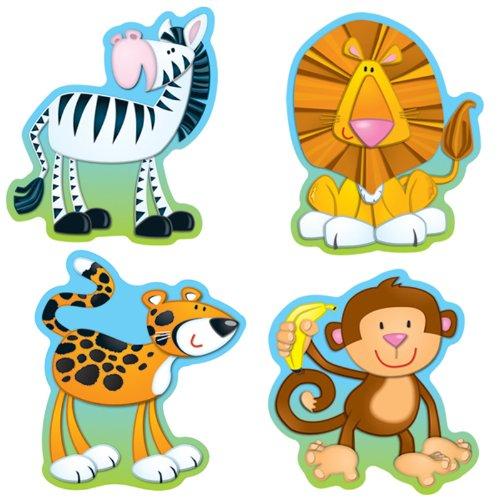 Carson Dellosa – Jungle Animals Colorful Cut-Outs, Classroom Décor, 36 Pieces