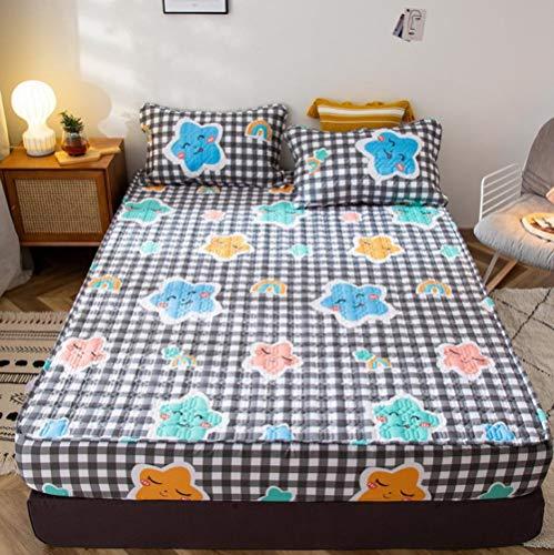 KIrSv Protector de colchón,Placa de pañal Impermeable,sábanas Ajustadas Gruesas de algodón Puro,Funda de colchón Fija y Transpirable Antideslizante para Dormir Desnudo-P_120x200cm+30cm