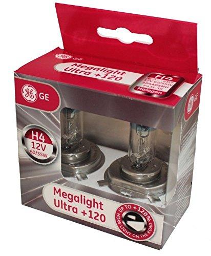 General Electric 50440snu H4 12 V 60/55 W P43T Megalight Ultra + 120% Double Box