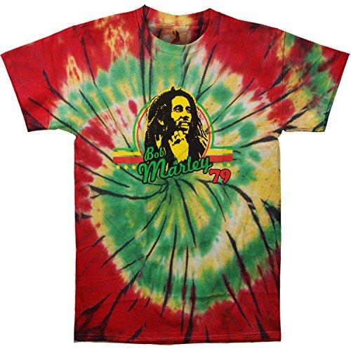 Bob Marley Men's '79 Tie Dye T-shirt Small Multi