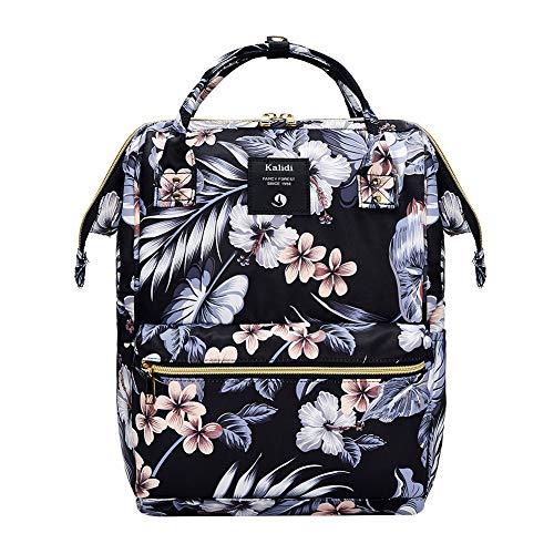KALIDI Rucksack/Daypack Rucksack Mädchen Jungen & Kinder Damen Herren Schulrucksack mit laptopfach für 15 Zoll Notebook,wasserdichte Schultasche (Tusche Blume)