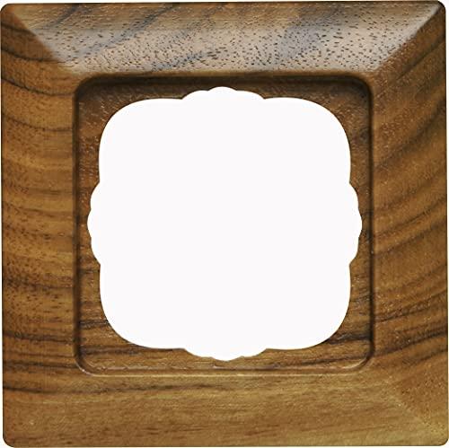 Kopp 306535006 HK02-Marco embellecedor para 1 Enchufe, Color Nogal