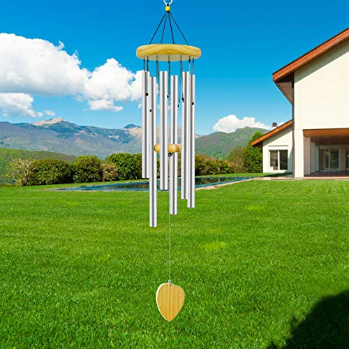 6. ASHLEYRIVER Wind Chimes Outdoor Deep Tone