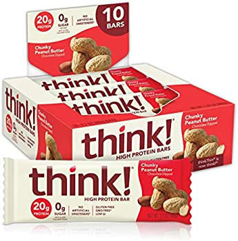 20-Pack ThinkThin Chunky Peanut Butter High Protein Bar