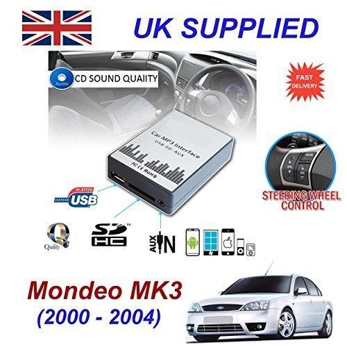 FORD MONDEO MK3 (2003 -2007) MP3 SD USB CD AUX entrada de Audio adaptador Digital cambiador de CD módulo