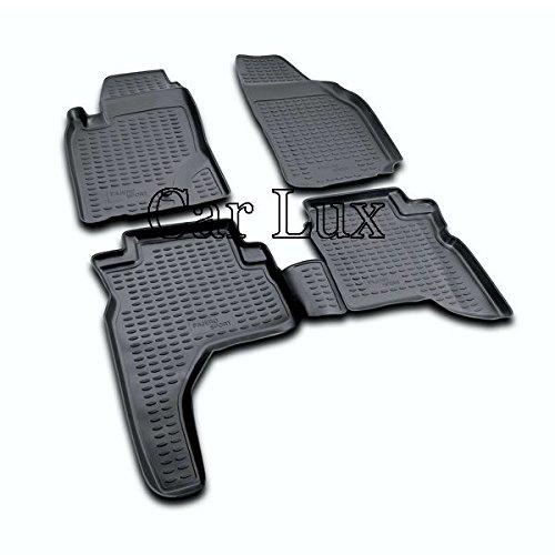 Car Lux AR04253 - Alfombrillas Alfombras de Goma a Medida Tipo cubeta 3D para Montero Sport