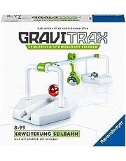 Ravensburger GraviTrax rozszerzenie kolejki linowej – idealne akcesorium do spektakularnych torów kulowych, zabawka konstrukcyjna dla dzieci w wieku od 8 lat.