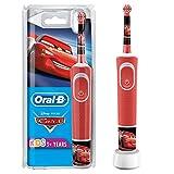 Oral-B Kids Cars für Kinder ab 3 Jahren, kleiner Bürstenkopf & weiche Borsten, 2 Putzprogramme inkl. Sensitiv, Timer, 4 Disney-Sticker, rot