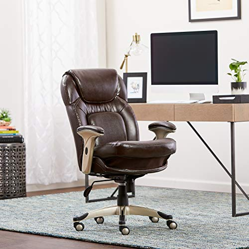 Serta Ergonomic Executive Office Chair Motion Technology Adjustable Mid Back Design with Lumbar...