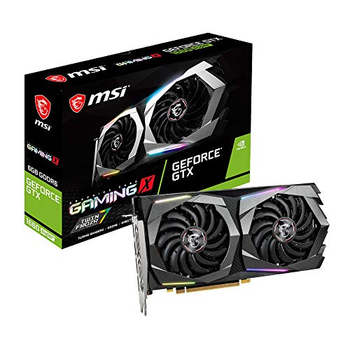 MSI NVIDIA GEFORCE GTX 1660 SUPER GAMING X Scheda grafica '6GB GDDR6, 1830Hz, RGB Mystic Light, 3x DisplayPort, HDMI, Dual Fan Cooling System'