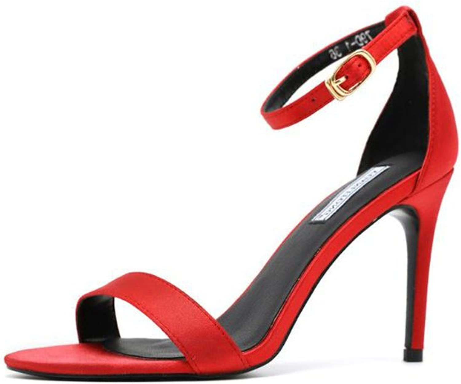 Women's High Heel Open Toe Ankle Buckle Strap Platform Evening Dress Casual Pump Sandal shoes