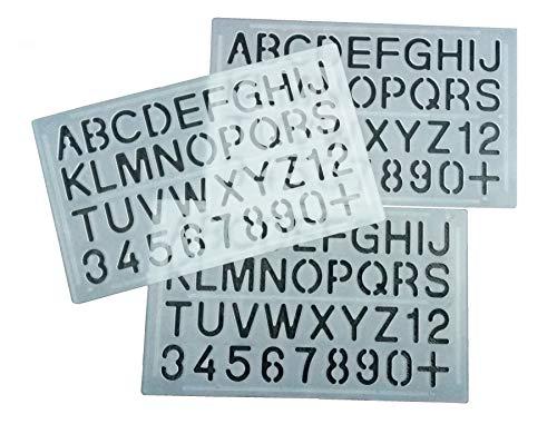 Parth Impex Lettre et nombre Pochoirs (lot de 3) numérique lettres de l'alphabet Peinture Dessin technique Template DIY Crafts projets