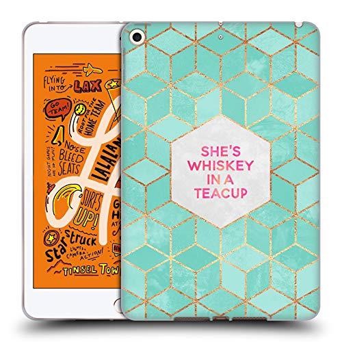 Officiële Elisabeth Fredriksson Ze is whisky in een theekopje Typografie Soft Gel Case Compatibel voor Apple iPad mini (2019)