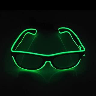 Suncentech Gafas LED Gafas Luminosos Ajustable, Gafas para Fiestas Decoración Gafas LED Lentes (Verde)