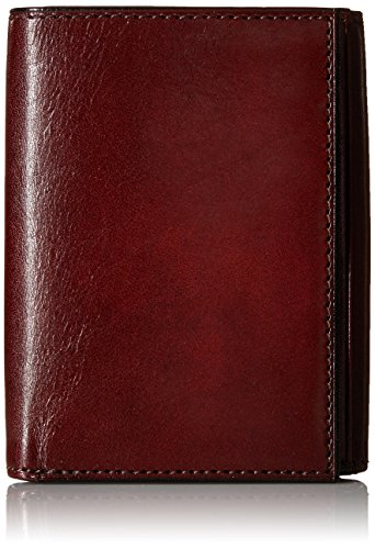 Bosca Men's Double I.D. Trifold, Dark Brown, One Size