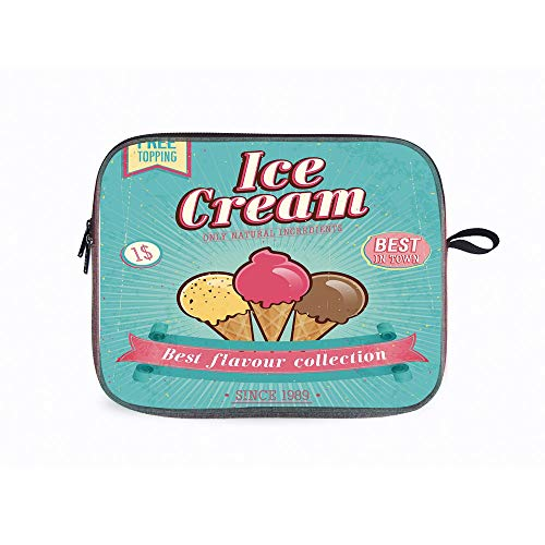 Ice Cream Best 13 Inch Laptop Messenger Bag Compatible with Apple,Acer,Asus,Dell,Toshiba