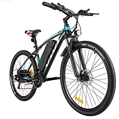 """Vivi Electric Bike, 27.5"""" Electric Mountain Bike/Electric Bicycle 350W Ebikes for Adults with Large Capacity Removable 10.4Ah Lithium-ion Battery, Shimano 21 Speed Shifter"""