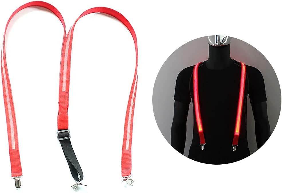 yeesport Utility Suspender Light up Adjustable Fashion LED Glowing Casual Y Shape Suspender Party Supply Trouser
