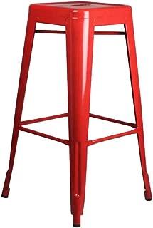 NMDB Tabouret Bar Rouge  comptoir Chaise Haute  Chaise Cuisine Fer Manger Chaise cafe  Chaise creative