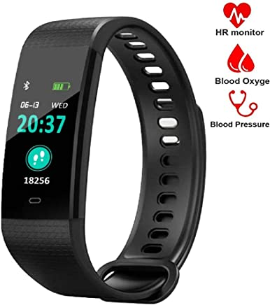 YZJ Blood Pressure Monitor Watch,Waterproof Color Screen Fitness Tracker with Heart Rate Blood Oxygen