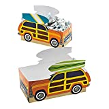 Fun Express - Surfs Up Favor Boxes for Birthday - Party Supplies - Containers & Boxes - Paper Boxes - Birthday - 12 Pieces