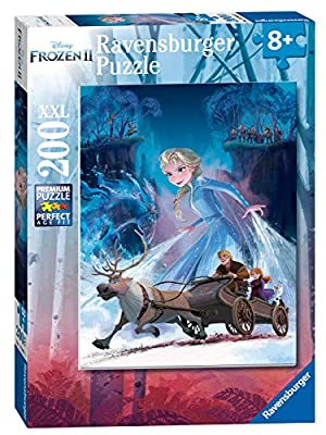 Ravensburger 12865 Disney Frozen 2 - The Mysterious Forest - 200 Piece Jigsaw Puzzle for Kids - Every Piece is Unique - Pieces Fit Together Perfectly,Multi