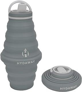HYDAWAY - Inklapbare waterfles, 750 ml flip top deksel   Ultra-verpakbaar, reisvriendelijk, voedingskwaliteit siliconen