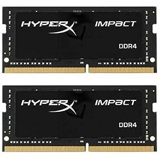 Kingston Technology HyperX Impact 32GB 2666MHz DDR4 CL15 260-Pin SODIMM Laptop Memory Black 32GB Kit (2 x 16GB) (B07BGLKD4M) | Amazon price tracker / tracking, Amazon price history charts, Amazon price watches, Amazon price drop alerts