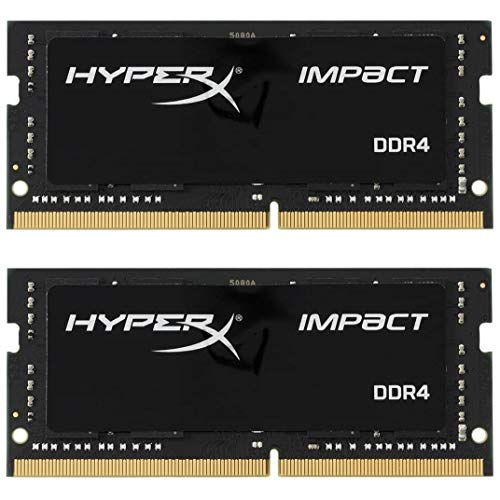 Kingston HyperX RAM Impact 16GB Kit (2X8GB) 2666Mhz DDR4 CL15 SODIMM Gamer Memoria Para LAPTOP Color Negro (HX426S15IB2K2/16)