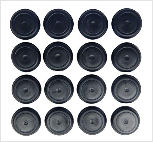 SB Distribution Ltd. (Pack of 16), Durable, Ergonomic Rubber Button Plugs with Flush-Type Heads - Universal Replacement Floor Plugs | Fit Jeep CJ5 CJ7 Scrambler CJ8 Wrangler YJ Cherokee XJ | by SBD