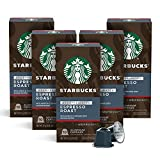Starbucks by Nespresso, Decaf Espresso Dark Roast (50-count single serve capsules, compatible with Nespresso Original Line System), 10 Count (Pack of 5)