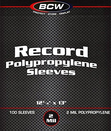 (300) BCW Record Album Polypropylene Sleeves / Covers