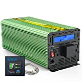 EDECOA 3000 Watts Power Inverter Modified Sine Wave DC 12V to AC 110V Converter with Remote Controller and AC Terminal Block LCD Display