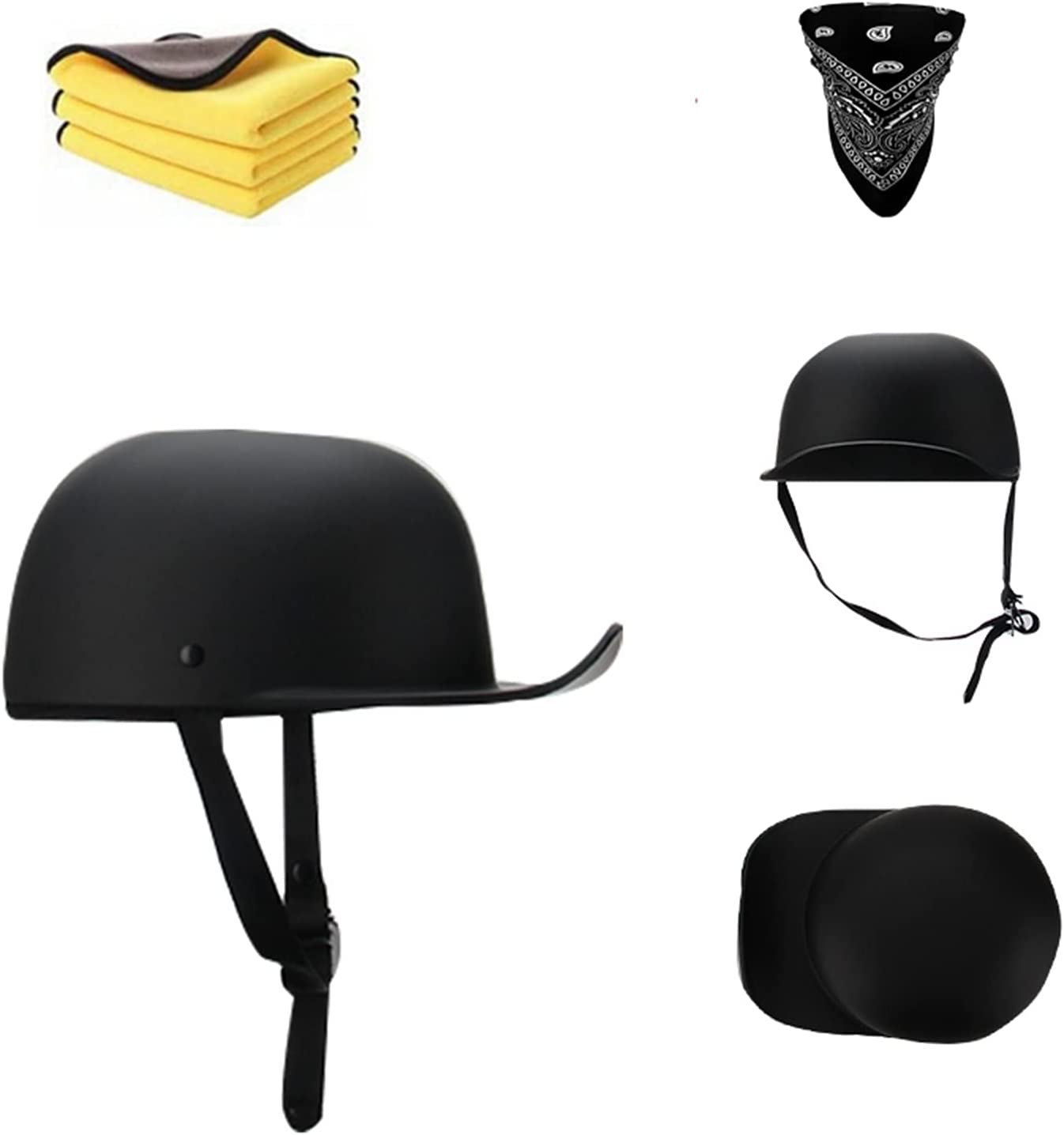 German Selling rankings Overseas parallel import regular item Styled Retro Half Helmet Cap Open- Baseball Style -