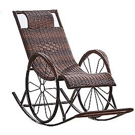 FGDSA Chaises en Rotin Chaise Longue Inclinable Zero Gravity Chaises Longues Chaises Relax Rocking Chairs Jardin…