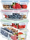 Best Glass Lunch Boxes - Glass Meal Prep Containers 3 Compartment [3PC SET Review