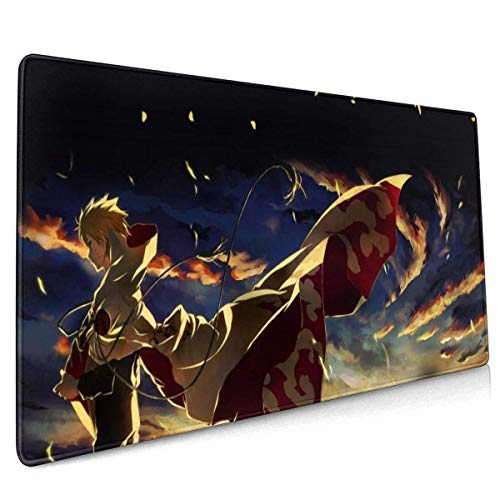 Naruto Large Gaming Mouse Pad Mat Non-Slip Rubber Thick 3mm Mousepad Stitched Edges 40 X 90 cm (15.8x35.5 Inches)