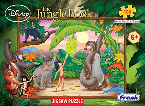 Frank Disney The Jungle Book 108 Piece Jigsaw Puzzle for Kids for Age 6 Years Old and Above