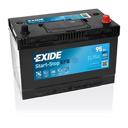 Exide, batteria per auto Start-Stop EFB, speciale per auto, batteria 12 V, 95 Ah, basso tasso di autoscarica