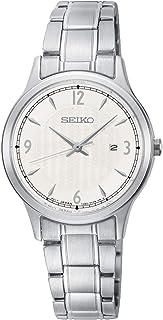 ساعة سيكو النسائية كوارتز مع شاشة انالوغ وسوار ستانلس ستيل SXDG93P1