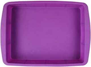 NYKKOLA Silicone Rectangular Cake Pans Easy Demoulding Purple