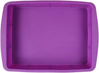 Generic Silicone Rectangular Cake Pans Easy Demoulding Purple by Generic