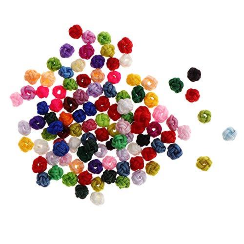 kowaku 100 Cuentas Espaciadoras de Bolas de Ganchillo para Bricolaje, Pulsera, Pendientes, Fabricación de Joyas, 6 Mm