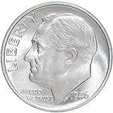 1946 S Roosevelt Dime 90% Silver Brilliant...