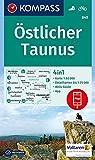 KOMPASS Wanderkarte Östlicher Taunus: 4in1 Wanderkarte 1:50000 mit Aktiv Guide und Detailkarten inklusive Karte zur offline Verwendung in der ... (KOMPASS-Wanderkarten, Band 840)