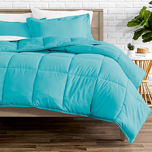 Bare Home Kids Comforter Set - Twin/Twin Extra Long - Goose Down Alternative - Ultra-Soft - Premium 1800 Series - Hypoallergenic - All Season Breathable Warmth (Twin/Twin XL, Aqua)
