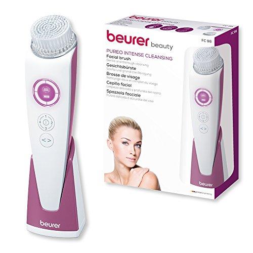 Beurer FC 96 elektrische Gesichtsbürste, sanfte Reinigung für alle Hauttypen, 4 Geschwindigkeitsstufen, wasserfest