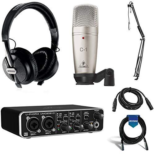 Behringer U-Phoria Studio Pro Complete Recording Bundle with UMC202HD USB Audio Interface
