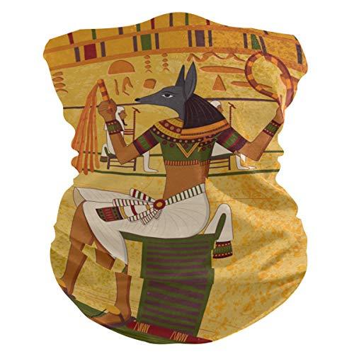 Rulyy Bandanas para el polvo, estilo vintage, tribal egipcio, pañuelo para la cabeza, multifunción, pasamontañas, toalla protectora unisex