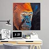 sanzangtang Rahmenlose Malerei Modernes Tier Gorilla rauchendes Wandbild, Wohnzimmer Leinwand Kunst PosterZGQ4210 70X70cm